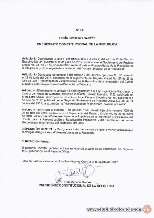 Jorge Glas, Lenín Moreno, Gobierno